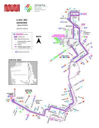 Muni Metro Map by 8 Bayshore Bus Route Sf Muni Sf Bay Transit