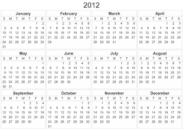 2012 calendar u2013 templates free printable