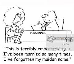 Maiden Name On Resume Maiden Name Cartoons And Comics Funny Pictures From Cartoonstock