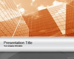 orange corporate project powerpoint template is a professional