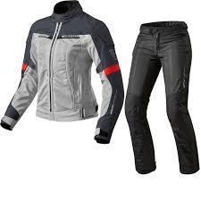 red and black motorcycle jacket rev it airwave 2 ladies motorcycle jacket u0026 trousers silver red