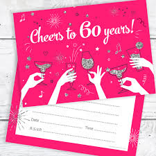 60 years birthday card 60th birthday party invitations cheers to 60 years