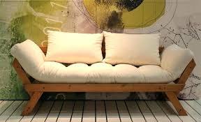 canap lit futon canape lit bois canape lit futon natur sofa bed 80 200 cm bebop