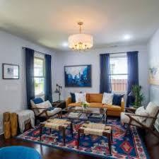 vintage modern living room blue midcentury modern living room photos hgtv
