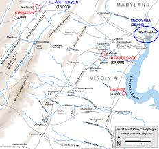 Map Of Northern Virginia Why They Fought Where They Fought In Virginia
