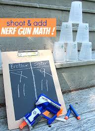 shoot u0026 add nerf gun math for kids math guns and learning