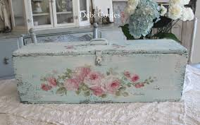 Shabby Chic Tablecloth by Shabby Chic Vintage Roses And Hydrangeas Trunk Keepsake Box By