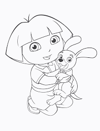 awesome dora with dog coloring pages page check more at http www