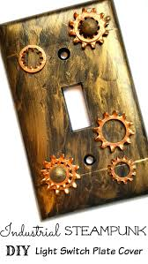 industrial steampunk light switch plate cover diy home decor