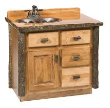 hickory vanity 3 u0027 with top sink left rustic maple rustic hickory