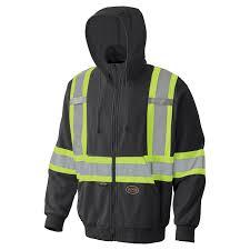 pioneer hi viz safety apparel hi viz micro fleece zip hoodie
