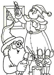 prepared santa christmas coloring pages for kids christmas