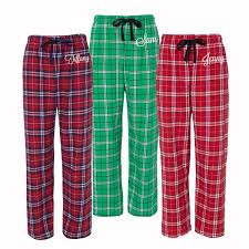 personalized pajamas flannel pjs monogrammed