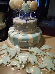 elephant baby shower cake i u0027d used the same elephant cookies on
