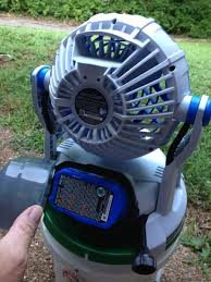 ryobi fan and battery artic cove 18v bucket top misting fan review
