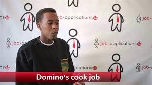domino u0027s pizza cook job youtube
