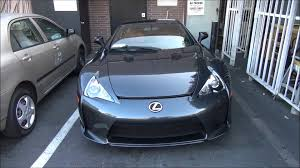 lexus supercar sport grey lexus lfa on the road 400 000 lexus in beverly hills youtube
