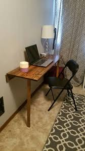 Adjustable Height Desk Diy by Best Fold Down Desk Ideas On Pinterest Table Diy For Small Spaces