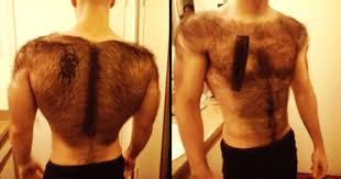 Hairy Men Meme - hairy man shaves his body for a bodybuilder competition