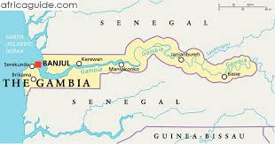 africa map gambia the gambia guide