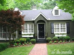 Exterior Paint Colors With Brick Image Of Green Exterior Paint Colorslight House Colors Home