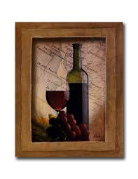 Wine Decor For Kitchen Amazon Com Red Grapes Wine Glass And Bottle Kitchen Tuscan Wall