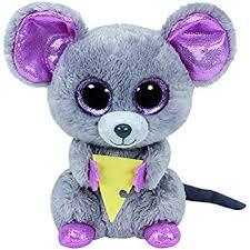 ty beanie boo plush squeaker mouse 15cm amazon uk toys