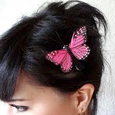 butterfly hair clip pink butterfly hair clip bohemian hair accessory
