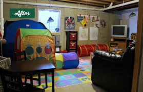 Ideas For Unfinished Basement Unfinished Basement Ideas Cozy Playroom For Kids
