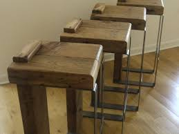 Reclaimed Wood Bar Stool Furniture 9 Unusual Metal Handmade Bar Kitchen Together With