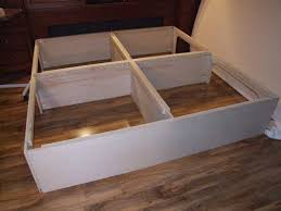 Diy Platform Bed Plans Furniture by Easy Instructions To Build A King Size Storage Platform Bed