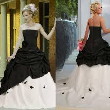 black and white 2015 gothic ball gown wedding dresses vintage