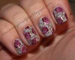 22 outstanding rose nail art design u2013 slybury com