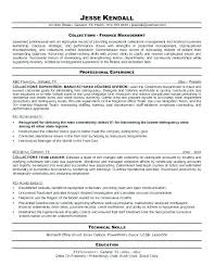 supervisor resume exles collections manager resume supervisor resume exles sle
