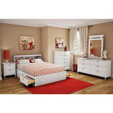 full size bookcase headboard south shore spark full size bookcase headboard in pure white 3260093