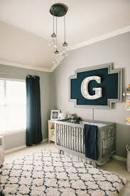 grayson u0027s modern grey navy and white nursery nursery navy and boys