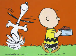 charlie brown snoopy dancing peanuts comic