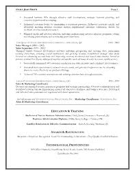 Sales Resumes Resume Format For Sales And Marketing Samples Of Resumes