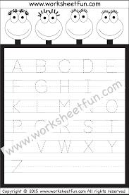 letter tracing worksheet u2013 capital letters free printable