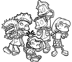 rug rats all grown up rugrats all grown up coloring page