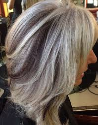 grey hair highlights and lowlights hair style fashion