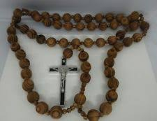wall rosary big rosario wood chain jesus cross xl large 40
