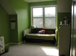 paint ideas for small bedrooms with awesome green wall painting