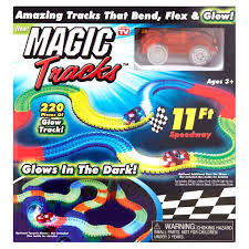 light up car track as seen on tv as seen on tv magic tracks glowing racetrack walmart com