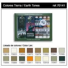 model color box set 16 paints earth tones 17ml