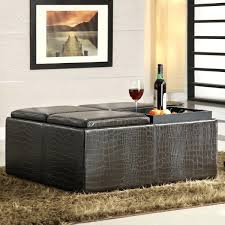 black leather storage ottoman set u2014 home ideas collection about