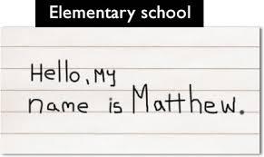 how my handwriting has changed since kindergarten the oatmeal