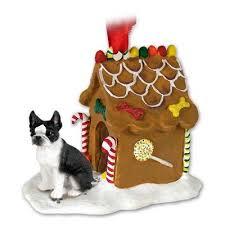 boston terrier gingerbread house ornament barkinwoofer