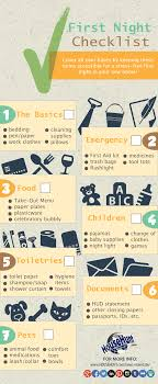 things you need for new house first night in new house checklist infographic househunt real