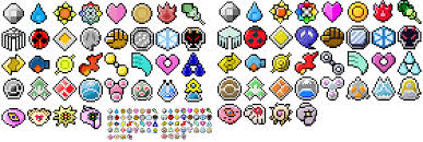 Pokemon Trainer Card Designer Badge Sprites I Did A While Back Right Ones Are Mine Left Ones